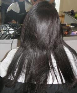 до кератинового выпрямления волос